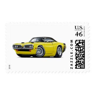 1970 Super Bee Yellow-Black Top Scoop Hood Postage