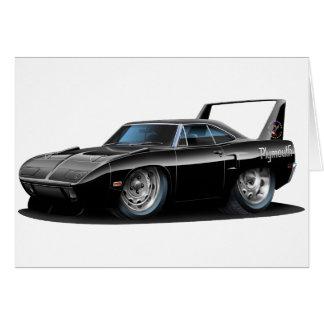 1970 Superbird Black Car Greeting Card