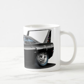1970 Superbird Black Car Classic White Coffee Mug