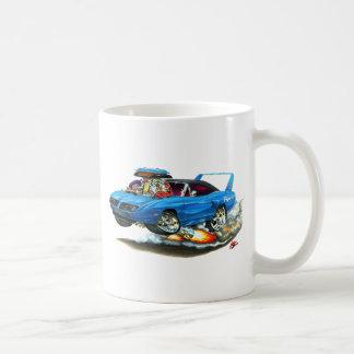 1970 Superbird Blue Car Classic White Coffee Mug