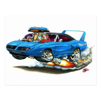 1970 Superbird Blue Car Postcard