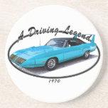 1970 Superbird Blue Drink Coaster