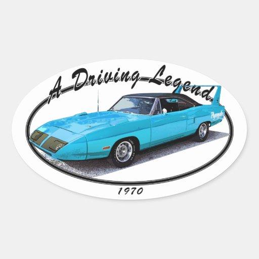 1970 Superbird Blue Sticker