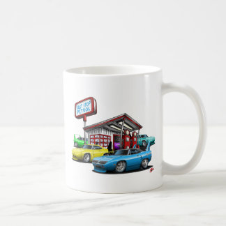 1970 Superbird Gas Station Classic White Coffee Mug