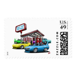 1970 Superbird Gas Station Postage Stamp