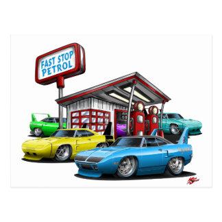 1970 Superbird Gas Station Postcards