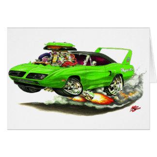 1970 Superbird Green Car Card