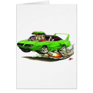 1970 Superbird Green Car Greeting Card