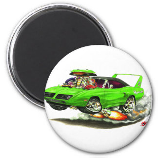 1970 Superbird Green Car Magnet