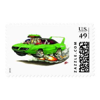 1970 Superbird Green Car Postage Stamp