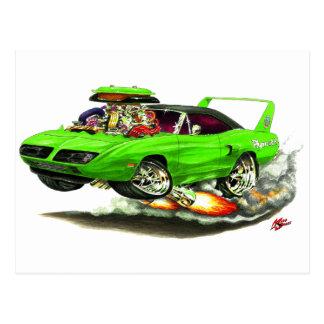 1970 Superbird Green Car Postcard