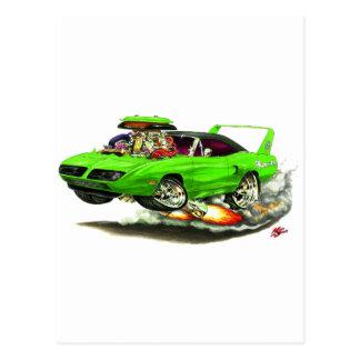 1970 Superbird Green Car Post Card