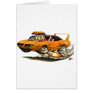 1970 Superbird Orange Car Greeting Cards