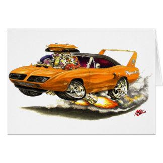 1970 Superbird Orange Car Cards