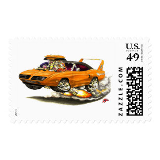 1970 Superbird Orange Car Postage Stamp