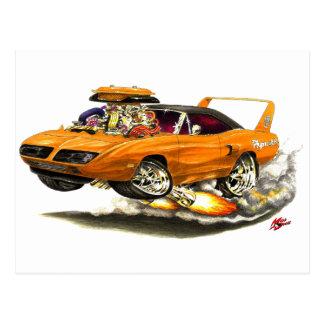 1970 Superbird Orange Car Postcards