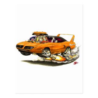 1970 Superbird Orange Car Postcard