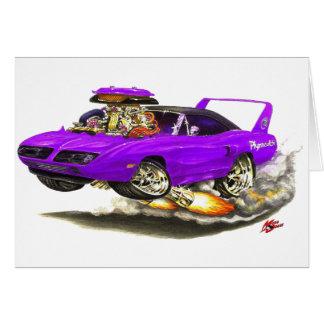 1970 Superbird Purple Car Cards