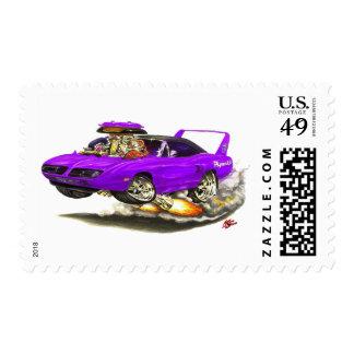 1970 Superbird Purple Car Postage Stamps