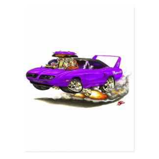 1970 Superbird Purple Car Postcard