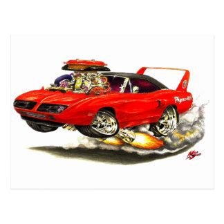 1970 Superbird Red Car Post Card