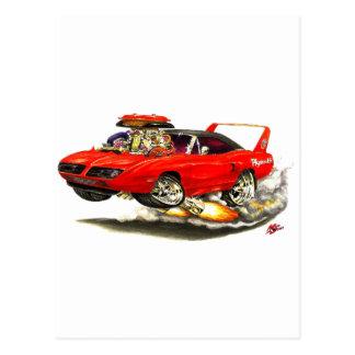 1970 Superbird Red Car Postcards