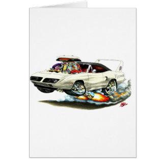 1970 Superbird White Car Cards