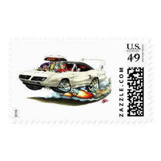 1970 Superbird White Car Stamp