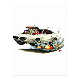 1970 Superbird White Car Post Cards