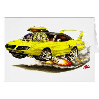 1970 Superbird Yellow Car Cards
