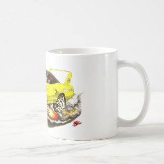 1970 Superbird Yellow Car Classic White Coffee Mug
