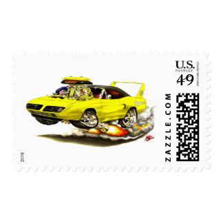 1970 Superbird Yellow Car Stamps