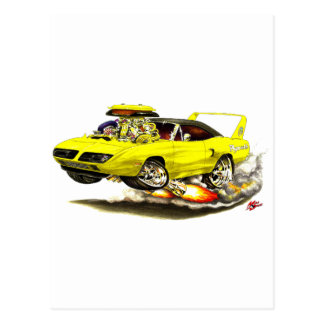 1970 Superbird Yellow Car Post Cards