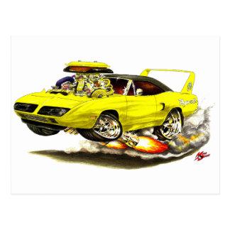 1970 Superbird Yellow Car Post Card
