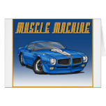 1970 Trans Am_Blue Greeting Cards