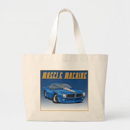 1970 Trans Am_Blue Large Tote Bag