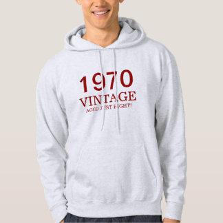 1970 vintage aged just right hoodie