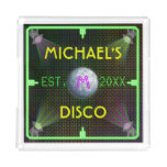 1970's Disco Ball Home Bar Customizable Square Serving Trays
