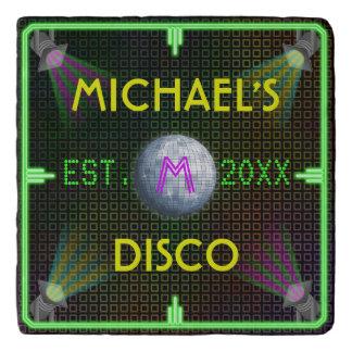 1970s Disco Ball Personalized Home Bar Trivet