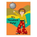 1970's Disco Theme Party 5x7 Paper Invitation Card