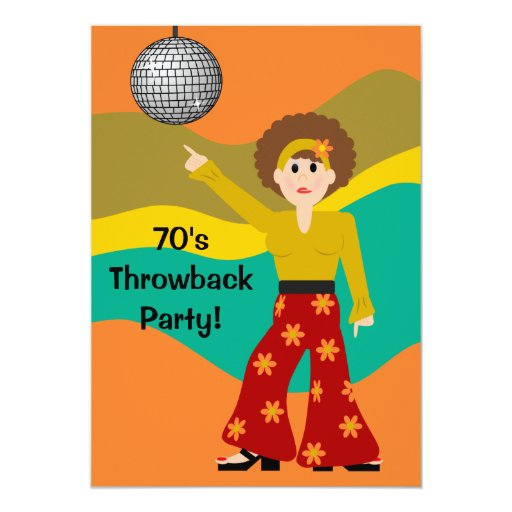 1970's Disco Theme Party Card