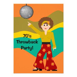 1970's Disco Theme Party Custom Announcements