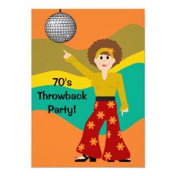1970's Party Invitations - Retro Invites