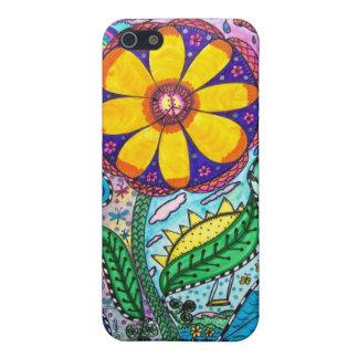"1970s ""Flower Power"" ""Flower Child"" Hippy Art Covers For iPhone 5"