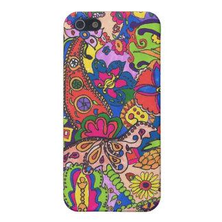 """1970s """"Flower Power"""" """"Flower Child"""" Hippy Art Cover For iPhone 5/5S"""