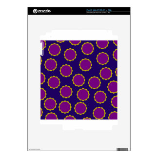 1970s Flower Power Retro Hippy Print Decals For The iPad 2