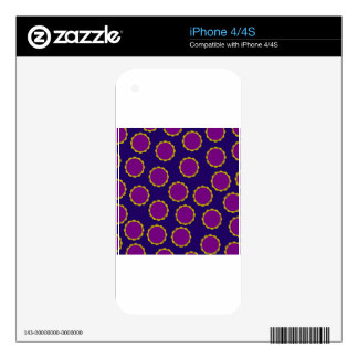 1970s Flower Power Retro Hippy Print Skin For The iPhone 4S