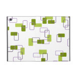 1970's Inspired Retro Geometric Lime Pattern Cover For iPad Mini