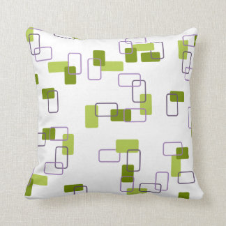 1970's Inspired Retro Geometric Lime Pattern Pillows