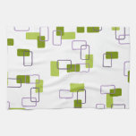 1970's Inspired Retro Geometric Lime Pattern Towel
